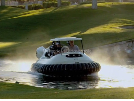 Chris Fitzgerald Bubba Watson Neoteric BW1 Hovercraft golf cart