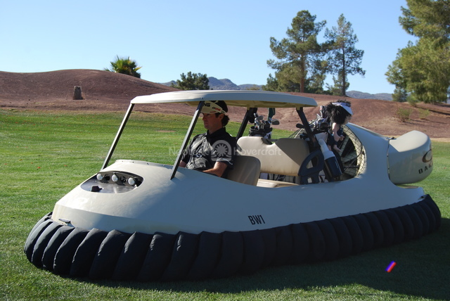 Bubba Watson in Neoteric Hovercraft golf cart BW1