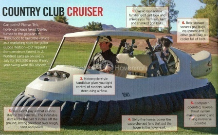 Hovercraft Golf Cart limited edition