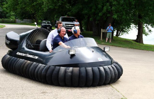 Larry Bucshon Military Hovercraft training