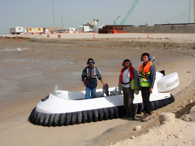 Kuwait port hovercraft flight training photo