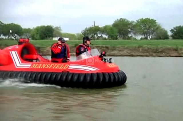 Mansfield Fire Department hovercraft pilot training