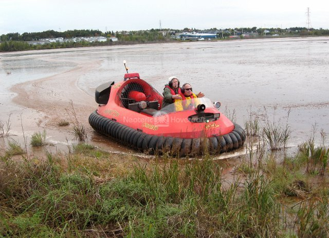 Image Neoteric rescue hovercraft on mud