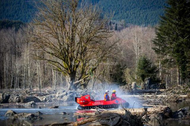 Image Hovertrek hovercraft Washington mudslide