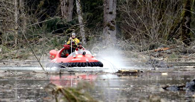 Picture Neoteric rescue hovercraft in action