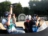 Chris Fitzgerald Neoteric Hovercraft transports film crew