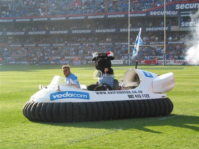 Hovercraft Carries Bulls Mascot