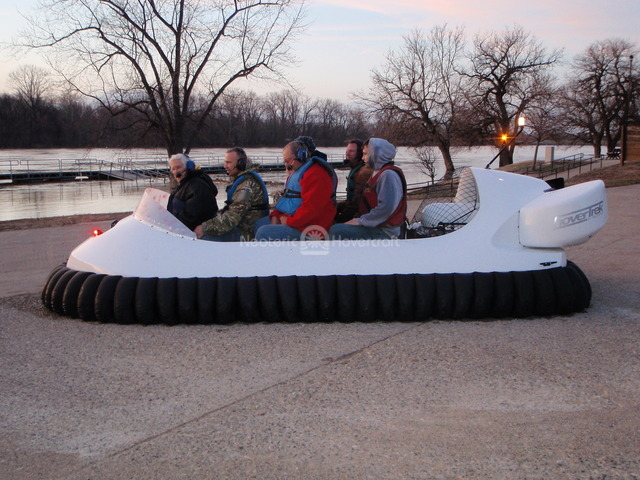 Neoteric commercial hovercraft utilized in Bubiyan Seaport Project in Kuwait.