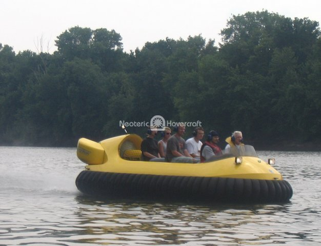Hovercraft In Motion with Passengers