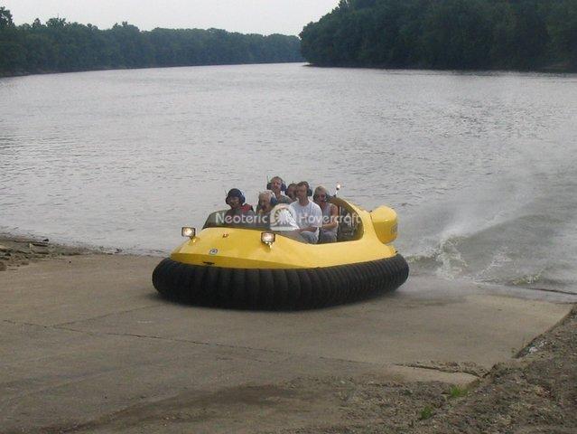 Hovercraft Transitioning onto Land