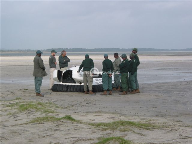 Anti-poaching Team Introduced to Hovercraft.
