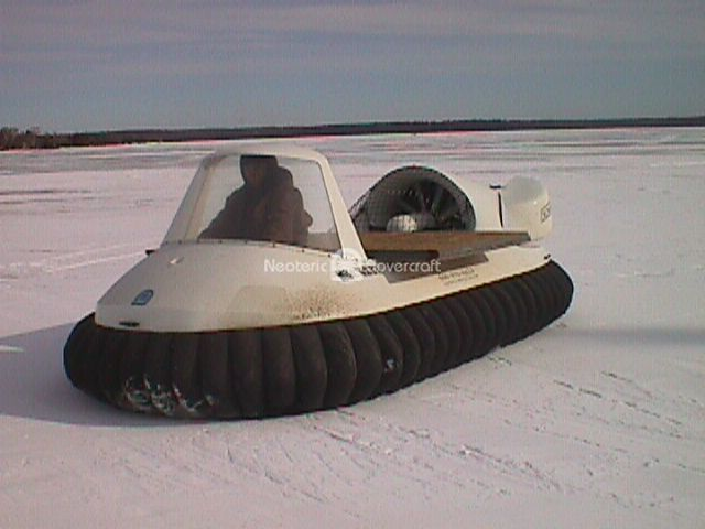 Hovercraft Carrying Building Materials