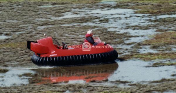 Hovercraft on Flooded Rice Farm