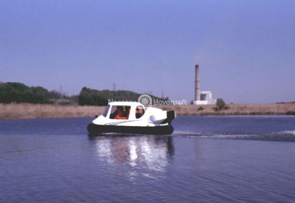 Commercial Hovercraft at Electrical Power Plant