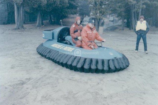 Rescue Questrek Hovercraft history photo
