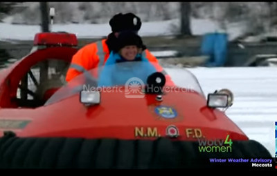 Video Hovercraft on ice WOTV 4 Women Where You Live