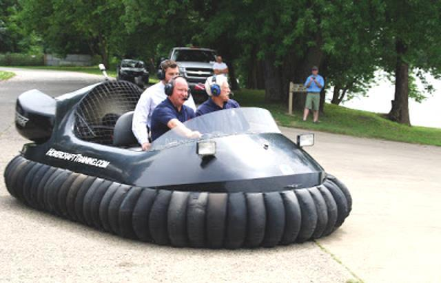 Photo Larry Buschon Hovercraft ride Homeland Security Flight training