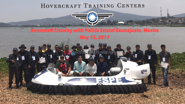 Image Hovercraft Drug enforcement Mexico Seguridad de Guanajuato Lake Yuriria