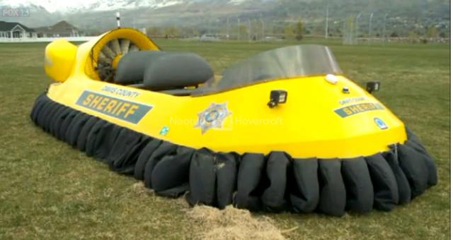 Image Rescue hovercraft Neoteric Great Salt Lake mudflats Hovercraft mud rescue vehicle
