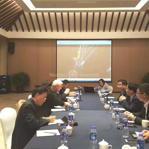 Image Hovercraft rides Shaanxi Development Park Hancheng China