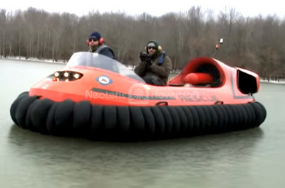 Video hovercraft Indiana Outdoor Adventures episodes Neoteric HoverTrek