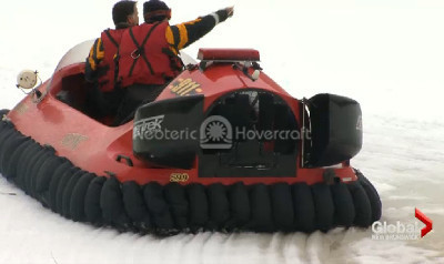 Global News Hovercraft feature video Moncton Fire Department Canada Neoteric Rescue hovercraft