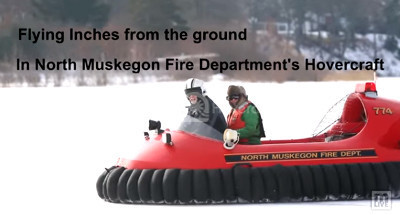 Video Hovercraft ice rescue North Muskegon Fire Department Neoteric hovercraft