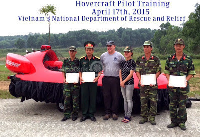Video Hovercraft Hanoi Viet Nam People's Army Neoteric Military hovercraft Emergency response vehicles Suoi Lake