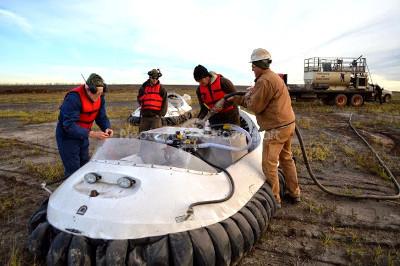 Photos hovercraft videos Taconite mining dust suppression vehicles Mesabi Iron Range Minnesota mining vehicles