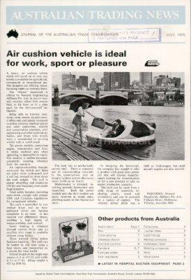 Air cushion vehicle Australian Trading News