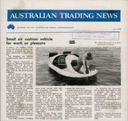 Air cushion vehicle photo Australian Trading News