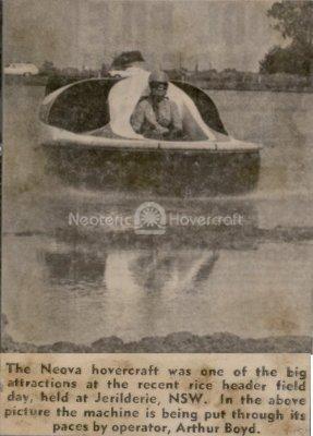 Neova Hovercraft rice farming