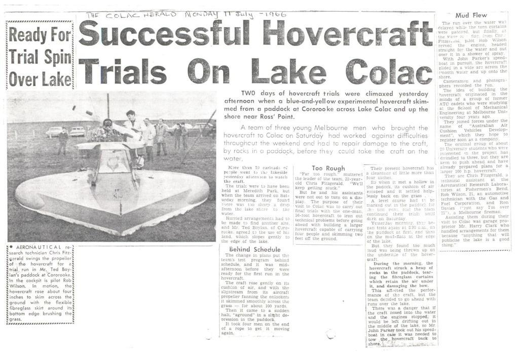 First Hovercraft Trials, 1966
