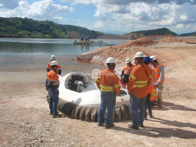 Image hovercraft in mining operations Pueblo Viejo