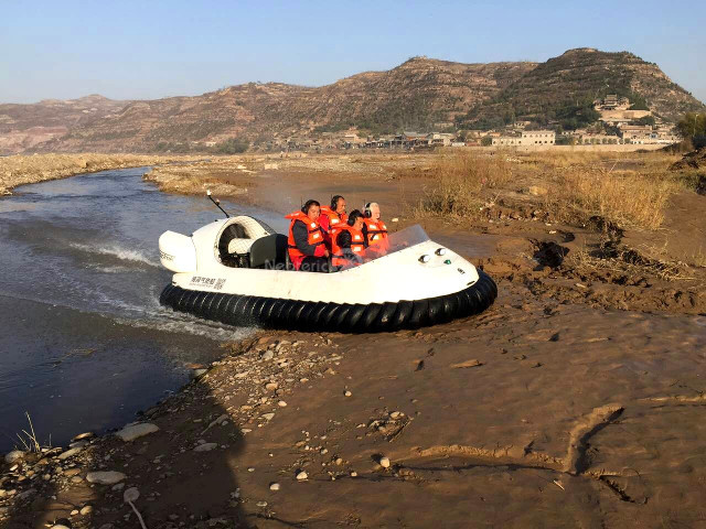 Image Hovercraft China Qikou Yellow River Tourist Attractions