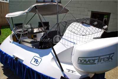 Image commercial hovercraft Tetra Tech Custom hovercraft for munitions detection vehicles
