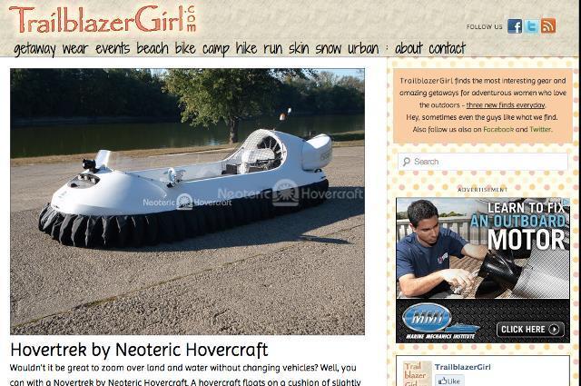 TrailblazerGirl.com Adventurous women Neoteric Hovercraft