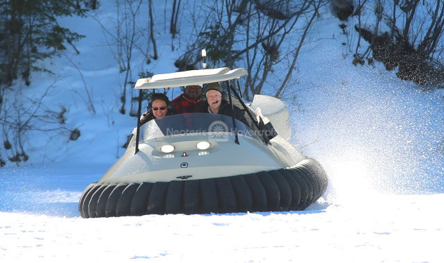 : Image Neoteric Hovercraft rides Voyageur Winter Carnival Fort William Historical Park