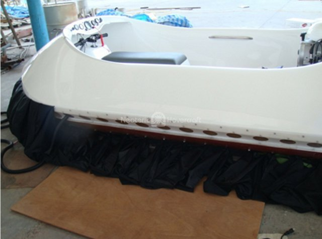 Picture install hover craft skirts