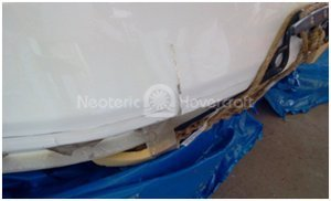 Picture hovercraft shipping damage