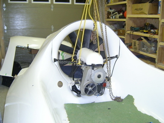 Positioning hovercraft kit engine module