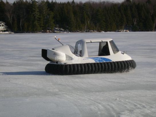 Hovercraft maiden flight