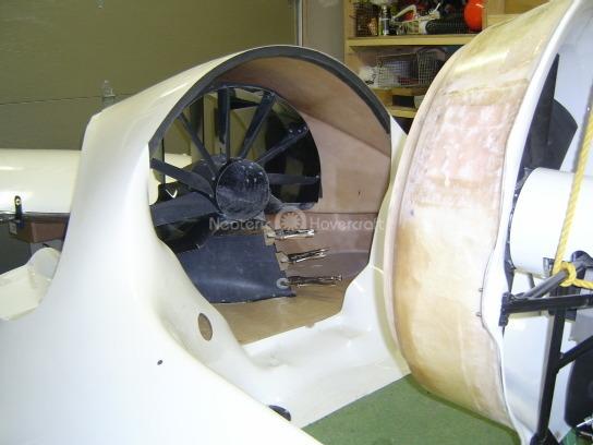 Building hovercrafts kit Splitter installation