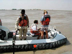 Kuwait Military Detects Land Mines with Neoteric Hovercraft