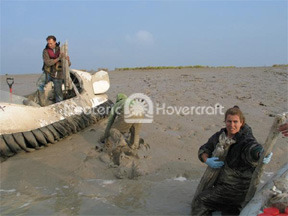 Hovercraft Allow Efficient Transport in Mud