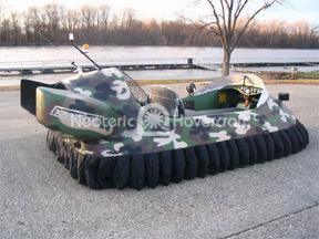 Camouflage Hovercraft testing