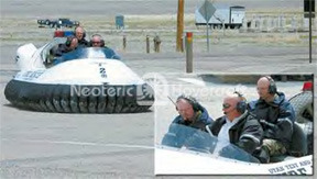 UTTR hovercraft rescue F-16 aircraft crash