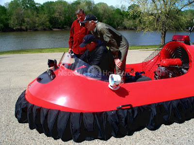 Image Norman Township Fire Department Rescue hovercraft training