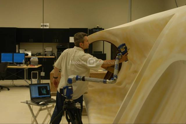 Image Hovercraft body plug Faro Platinum LaserScan CMM