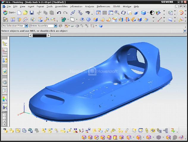 Photo 6 passenger hovercraft NX parametric image